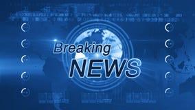 Breaking news_generic BLUE stock video