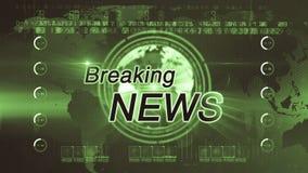 Breaking news_generic GREEN stock footage
