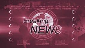 Breaking news_generic RED stock video footage
