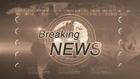 Breaking news_generic  SEPIA stock video footage