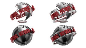 Breaking News Globe with alpha matte stock video