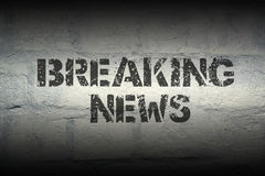 Breaking news GR Royalty Free Stock Photos