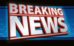 Breaking News Graphic Stock Image
