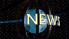 Breaking news graphic stock video footage