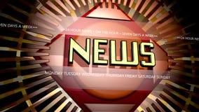 Breaking news graphic stock video
