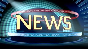 Breaking news graphic stock footage