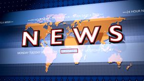 Breaking news graphic stock video