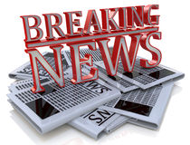 Breaking News Graphic Daily news newspaper Royalty Free Stock Photography