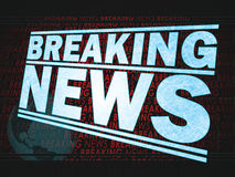 Breaking News Graphic Royalty Free Stock Image