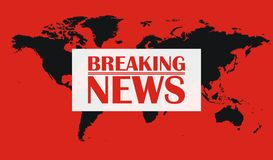 Breaking News Graphic Royalty Free Stock Images