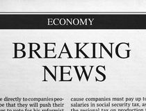 Breaking news headline Stock Images
