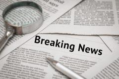 Breaking news headline Royalty Free Stock Photo