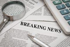 Breaking news headline Royalty Free Stock Photography