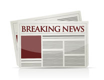 Breaking news illustration Stock Photography