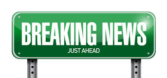 Breaking news illustration design Stock Photo