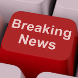 Breaking News Key Shows Newsflash Broadcast Online Royalty Free Stock Photo