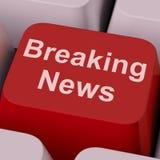 Breaking News Key Shows Newsflash Broadcast Online Royalty Free Stock Photo