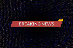 Breaking news live Royalty Free Stock Photo