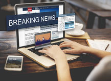 Breaking News Media Announcement Social Concept Royalty Free Stock Images