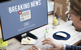 Breaking News Newsletter Announcement Daily Concept Royalty Free Stock Photography