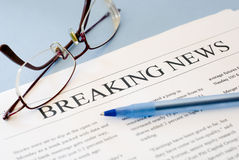 Breaking news Stock Images