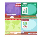 Breaking news people Royalty Free Stock Image