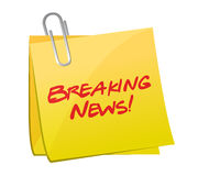Breaking news post illustration design Royalty Free Stock Photo