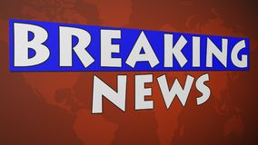 Breaking News 003 - Red World Background. High Resolution - Colorful Background stock illustration