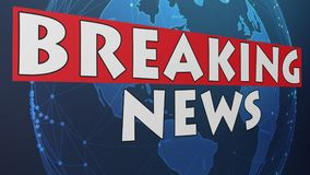 Breaking News 005 - Red World Background. High Resolution - Colorful Background royalty free illustration