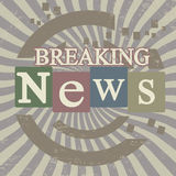 Breaking news screen. Breaking news retro screen background, vector illustration Royalty Free Stock Photo