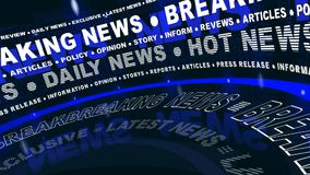 Breaking News - Rotated Words stock video