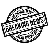 Breaking News rubber stamp Stock Image
