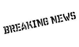 Breaking News rubber stamp. Grunge design with dust scratches. Effects can be easily removed for a clean, crisp look. Color is easily changed Stock Photo