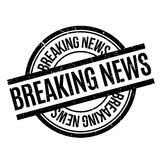 Breaking News rubber stamp Royalty Free Stock Photos