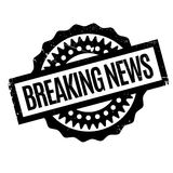Breaking News rubber stamp Stock Photo