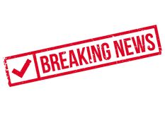 Breaking News rubber stamp Royalty Free Stock Photography