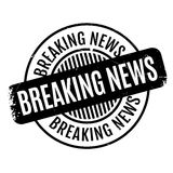 Breaking News rubber stamp Stock Photography