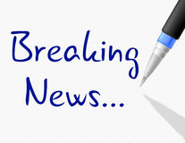 Breaking News Shows At This Time And Info Royalty Free Stock Image