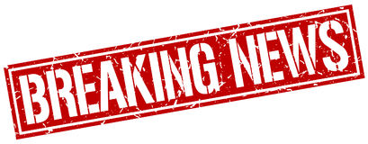 Breaking news square stamp Royalty Free Stock Photos