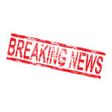 Breaking News Stamp Royalty Free Stock Photo