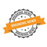 Breaking news stamp illustration Stock Photography