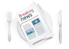 Breaking news tablewares Stock Photography