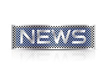 Breaking news text - business sign Royalty Free Stock Image