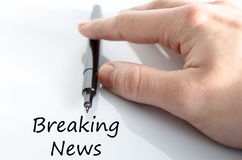 Breaking news text concept Royalty Free Stock Photos