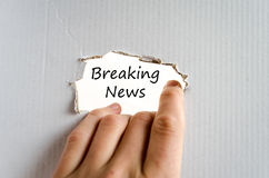 Breaking news text concept Royalty Free Stock Images