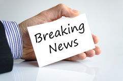 Breaking news text concept Stock Images