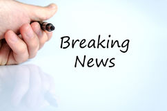 Breaking news text concept Royalty Free Stock Image