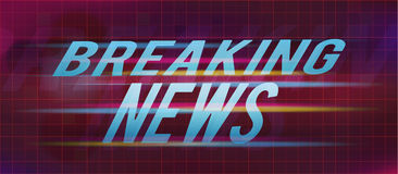 Breaking news title on abstract background. Vector illustration Stock Photos