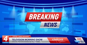 Free Breaking News TV Background Royalty Free Stock Images - 170292999