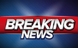 Breaking news Tv banner Stock Images